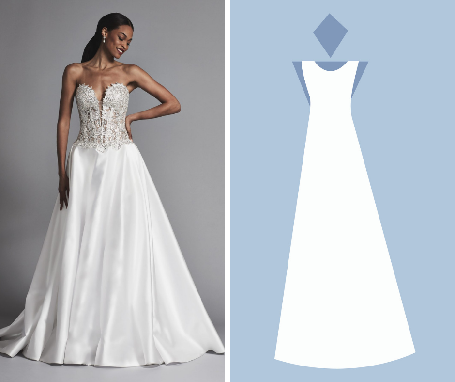 Kleinfeld Bridal has over 1,500 wedding dresses in these Silhouettes—A-LINE