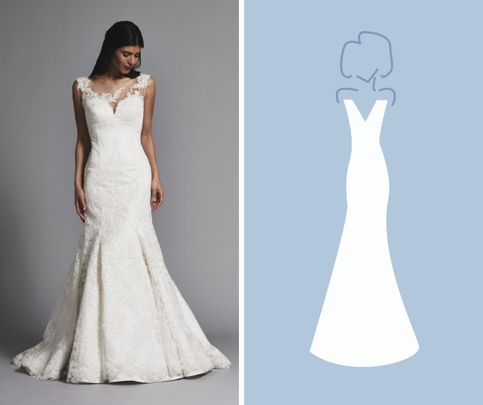 Kleinfeld Bridal has over 1,500 wedding dresses in these Silhouettes—Fit and Flare