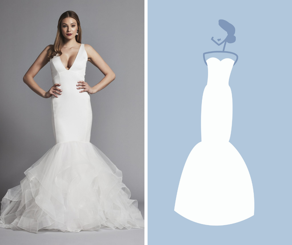 Kleinfeld Bridal has over 1,500 wedding dresses in these Silhouettes—Mermaid