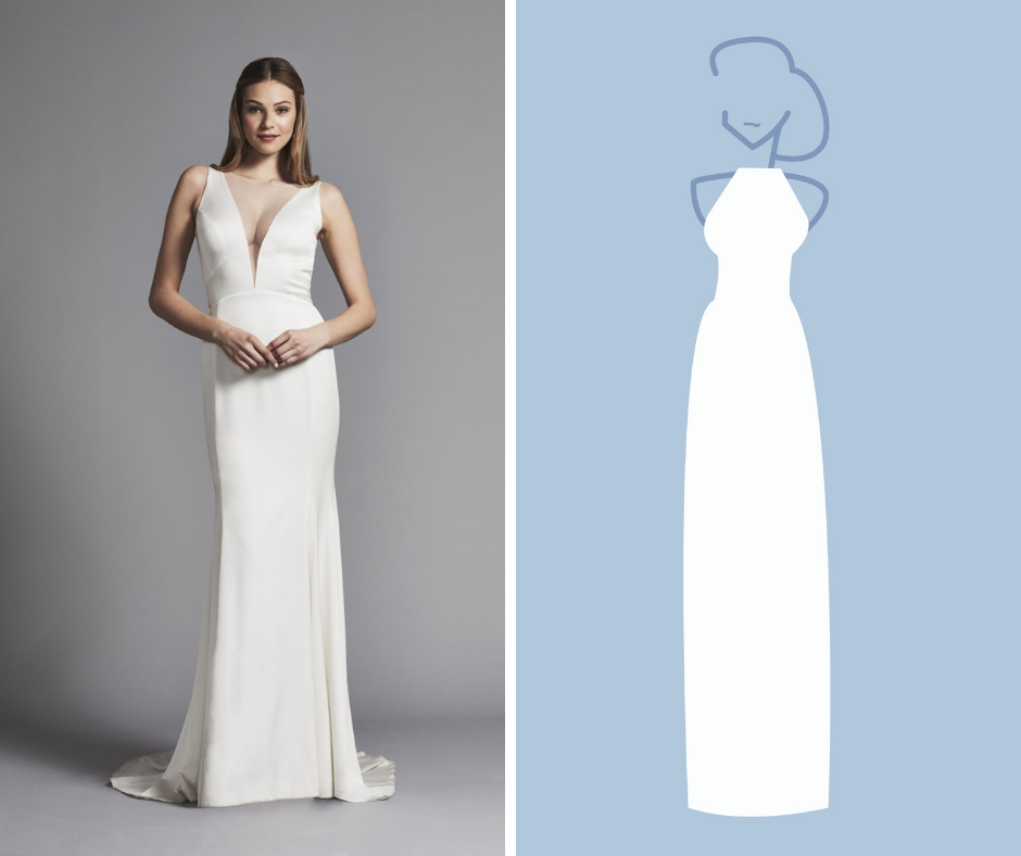 Kleinfeld Bridal has over 1,500 wedding dresses in these Silhouettes—Sheath
