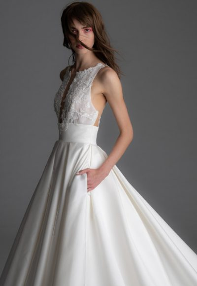 Sleeveless Silk Skirt A-line Wedding Dress by Alyne by Rita Vinieris