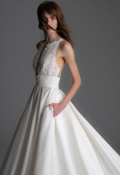 Sleeveless Silk Skirt A-line Wedding Dress by Alyne by Rita Vinieris