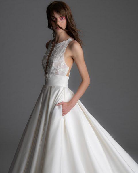 Sleeveless Silk Skirt A-line Wedding Dress by Alyne by Rita Vinieris - Image 1