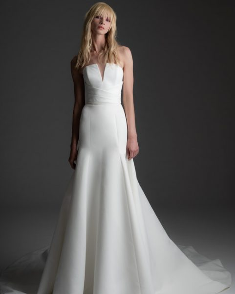 Strapless V-neck Fit And Flare Wedding Dress by Alyne by Rita Vinieris - Image 1
