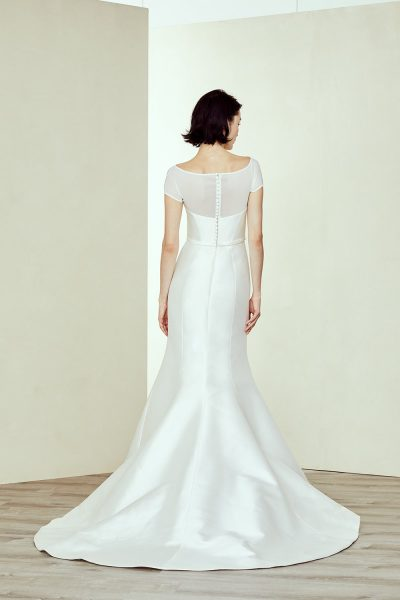 Silk Fit And Flare Wedding Dress by Amsale - Image 2