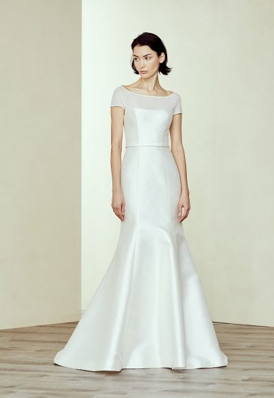 Silk Fit And Flare Wedding Dress by Amsale