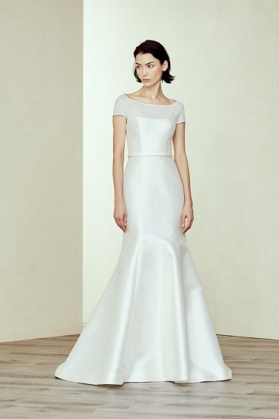 Silk Fit And Flare Wedding Dress by Amsale - Image 1
