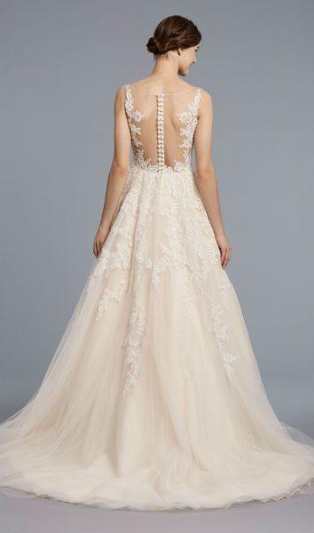 A-line Tulle V-neck Wedding Dress by Anne Barge - Image 2