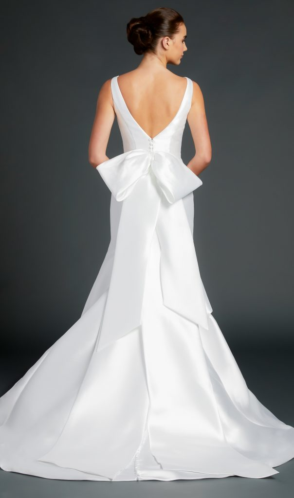 Bateau Neckline Sleeveless Fit And Flare Wedding Dress by Anne Barge - Image 2