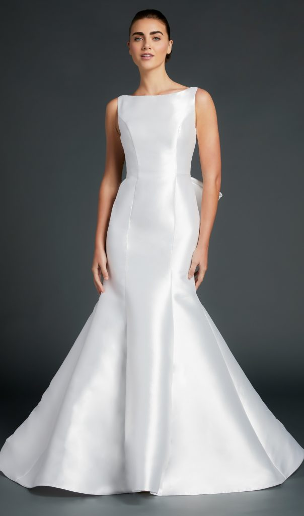 Bateau Neckline Sleeveless Fit And Flare Wedding Dress by Anne Barge - Image 1