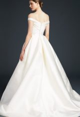 Off The Shoulder Simple Ball Gown by Anne Barge - Image 2