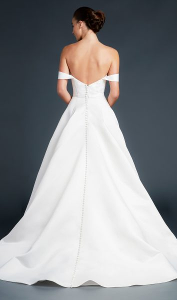 Sweetheart Neckline Off The Shoulder Straps A-line Wedding Dress by Anne Barge - Image 2