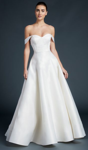 Sweetheart Neckline Off The Shoulder Straps A-line Wedding Dress by Anne Barge - Image 1