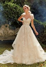 Ball Gown Embroidered Wedding Dress by Eve of Milady - Image 1