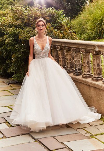Beaded Lace Bodice Tulle Ball Gown by Eve of Milady