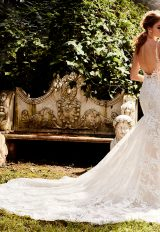 Fit And Flare Sequin Wedding Dress by Eve of Milady - Image 2