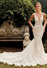 Fit And Flare Sequin Wedding Dress by Eve of Milady - Image 1
