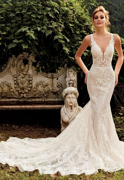 Fit And Flare Sequin Wedding Dress by Eve of Milady