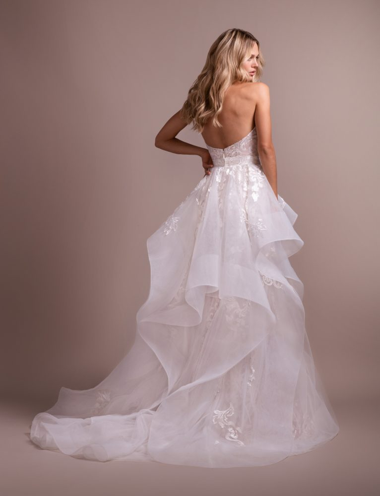 Deep Sweetheart Strapless Embroidered Fit And Flare Wedding Dress by Hayley Paige - Image 2