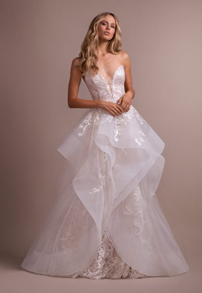 Deep Sweetheart Strapless Embroidered Fit And Flare Wedding Dress by Hayley Paige