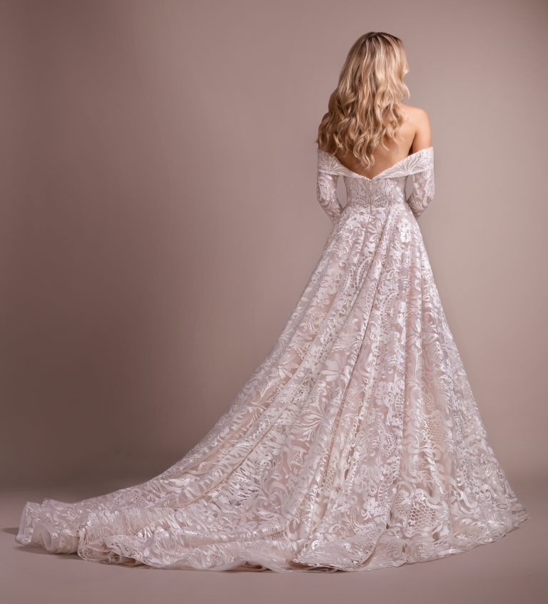 Lace Wedding Dress With Removable Off The Shoulder Long Sleeves by Hayley Paige - Image 2