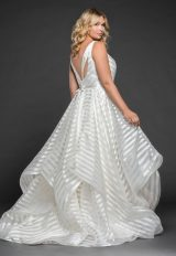 Striped Organza Ball Gown by BLUSH by Hayley Paige - Image 2