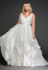 Striped Organza Ball Gown by BLUSH by Hayley Paige - Image 1