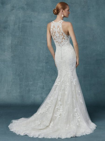 Fit And Flare Lace Halter Neckline Wedding Dress by Maggie Sottero - Image 2