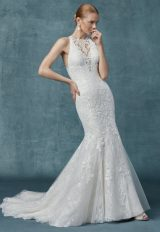 Fit And Flare Lace Halter Neckline Wedding Dress by Maggie Sottero - Image 1