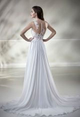 Illusion Lace Sleeveless A-line Wedding Dress by Maison Signore - Image 2