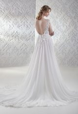 Lace Bodice Flowy Skirt A-line Wedding Dress by Maison Signore - Image 2