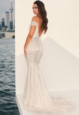 Fit And Flare Lace Off The Shoulder Gown by Paloma Blanca - Image 2