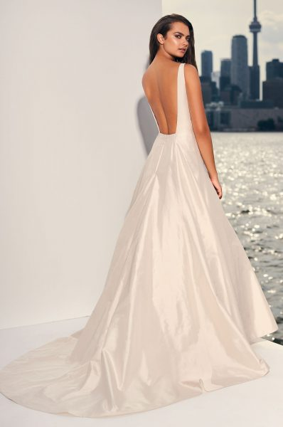Silk Fit And Flare Wedding Dress by Paloma Blanca - Image 2