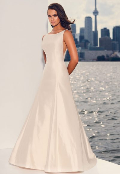 Silk Fit And Flare Wedding Dress by Paloma Blanca