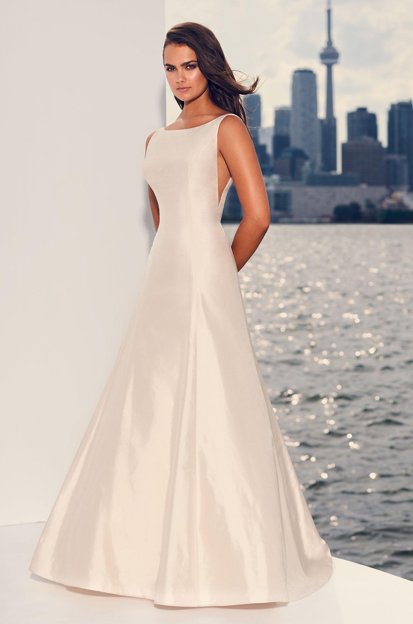 Silk Fit And Flare Wedding Dress Kleinfeld Bridal