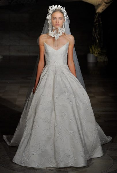 Floral Embroidered Ball Gown by Reem Acra - Image 1