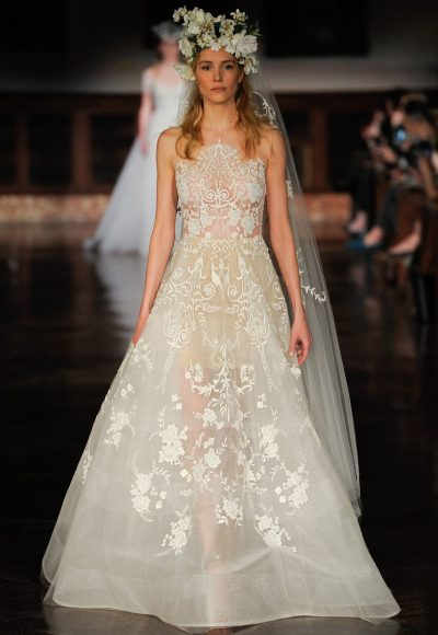 Organza A-line Wedding Dress by Reem Acra