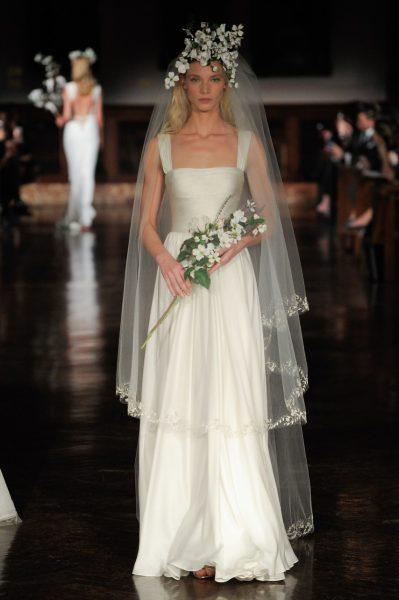 Ruched Sheath Wedding Dress by Reem Acra - Image 1