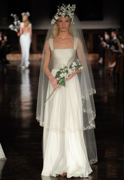 Ruched Sheath Wedding Dress by Reem Acra