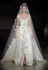 Silk Off The Shoulder Ball Gown Wedding Dress by Reem Acra - Image 1