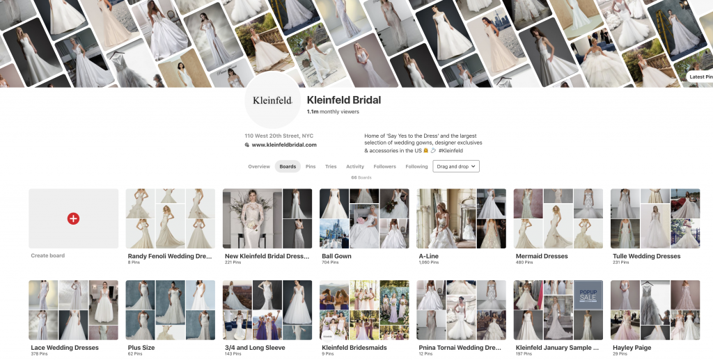 Kleinfeld Bridal Pinterest Board