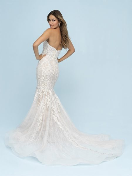 Sweetheart Neckline Strapless Fit And Flare Wedding Dress by Allure Bridals - Image 2