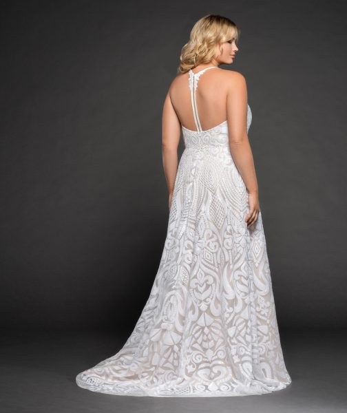 Fully Beaded A-line Wedding Dress by BLUSH by Hayley Paige - Image 2