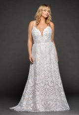 Fully Beaded A-line Wedding Dress by BLUSH by Hayley Paige - Image 1
