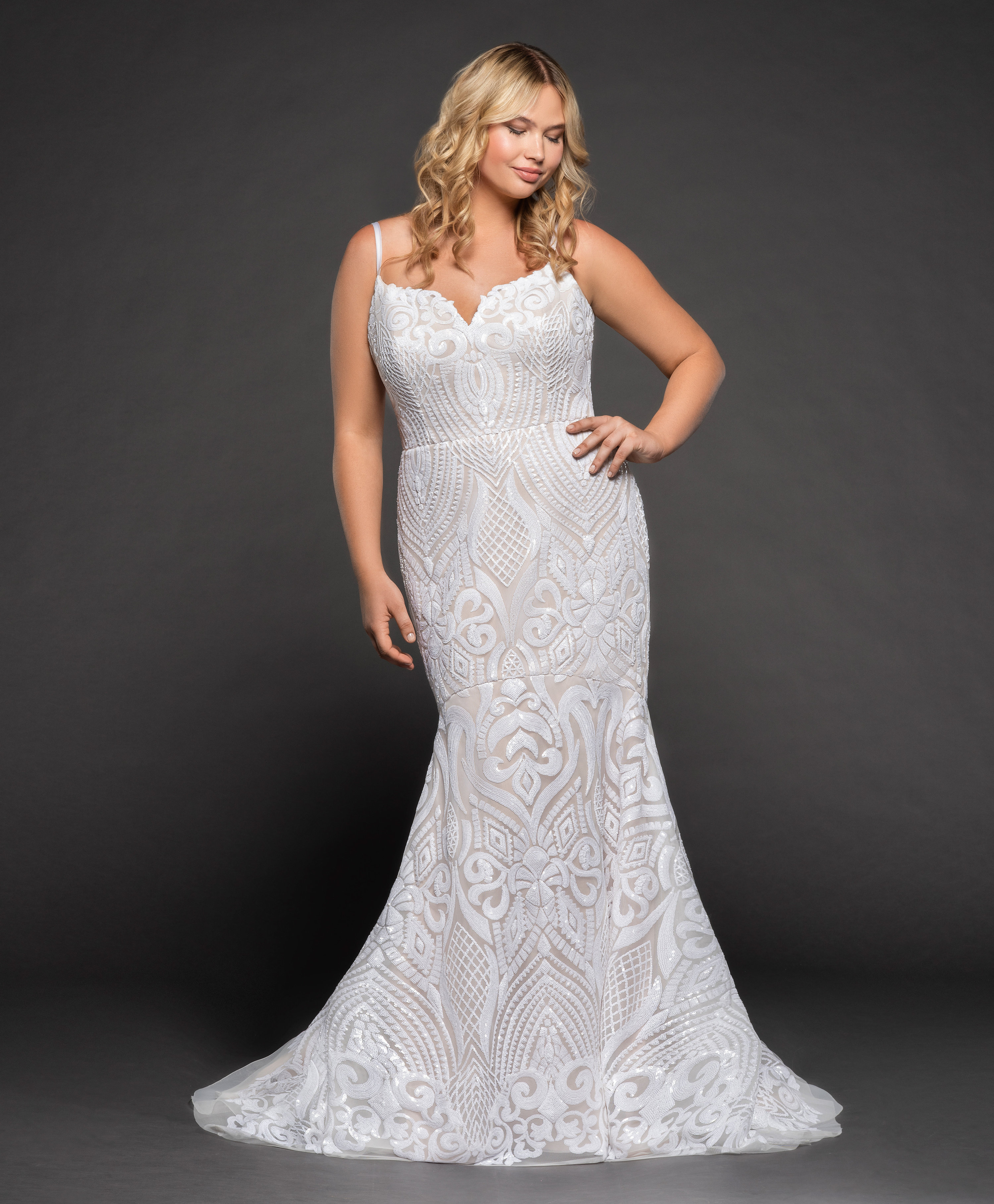 9e3ed7c0d6254 Fully Beaded Fit And Flare Wedding Dress | Kleinfeld Bridal