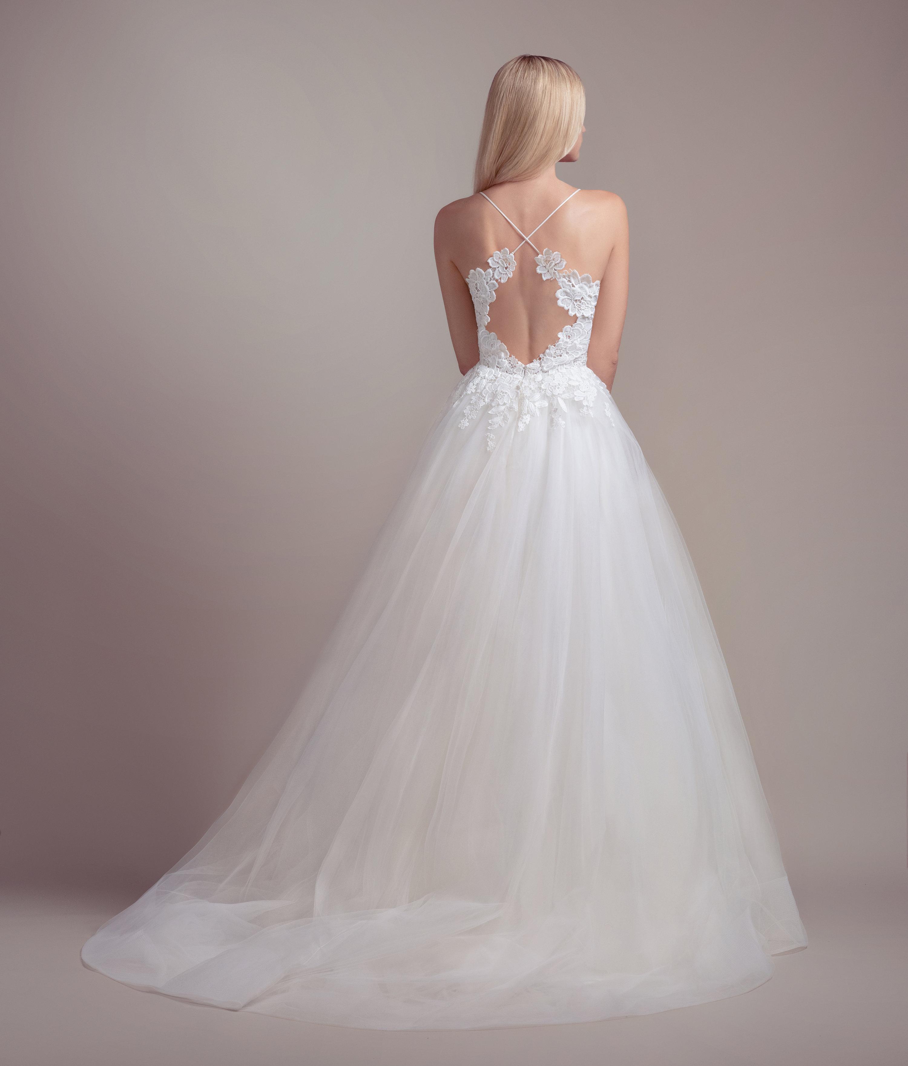 Bodice Wedding Gown: Lace Bodice Spaghetti Strap Ball Gown Wedding Dress