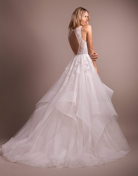 Lace Bodice Tulle Skirt Ball Gown Wedding Dress by Hayley Paige - Image 2