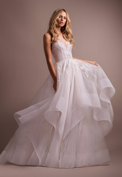 Lace Bodice Tulle Skirt Ball Gown Wedding Dress by Hayley Paige