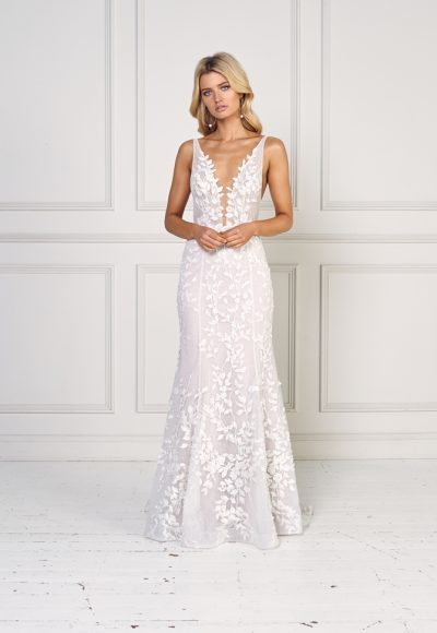 Sleeveless Fit And Flare Wedding Dress by Jane Hill