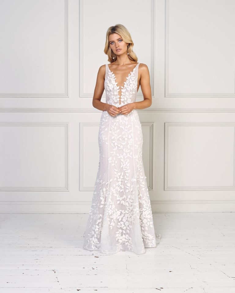 Sleeveless Fit And Flare Wedding Dress by Jane Hill - Image 1